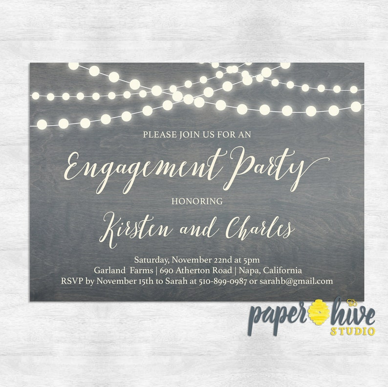 Country Engagement Party Invitations Couples Shower Etsy