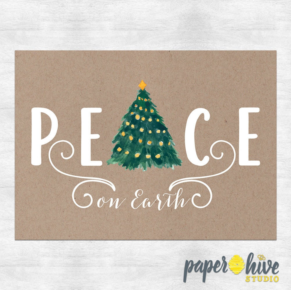 Peace on earth holiday cards / Christmas cards / Christmas | Etsy