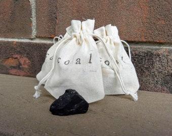 One Miniature Bag of Coal // Lump of Coal // Christmas Coal