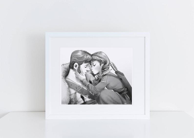 Frozen - Goodbye kiss 8x10 print