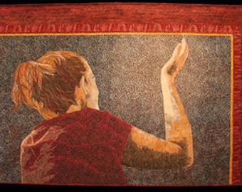 Praise III Textile Fiber Art Quilt Wall Hanging