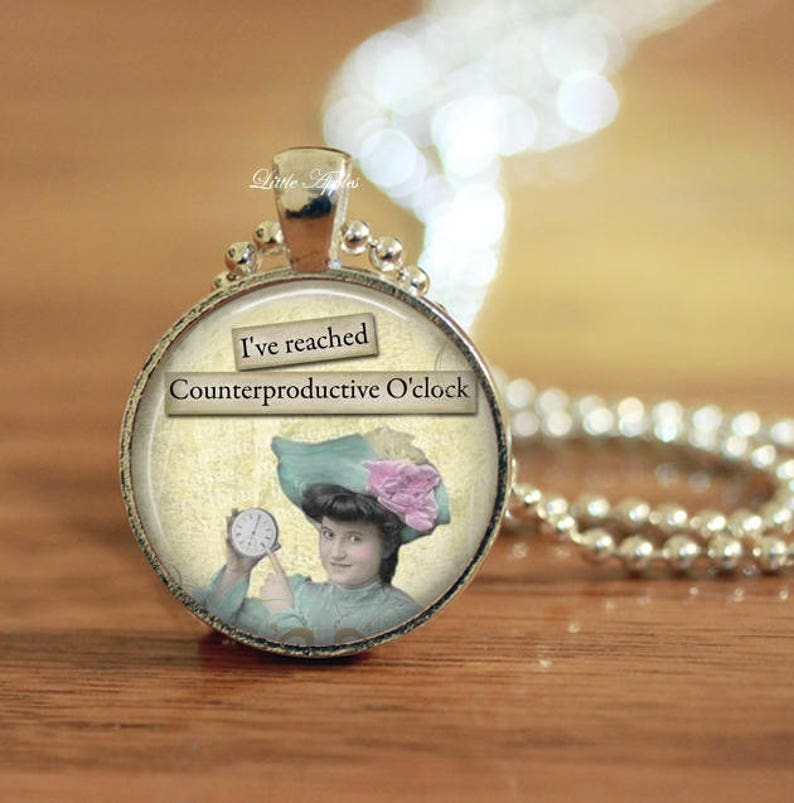 sarcasm jewelry sassy keychain glass dome necklace funny gifts Retro woman sassy necklace SALE Sassy vintage ladies quote necklace