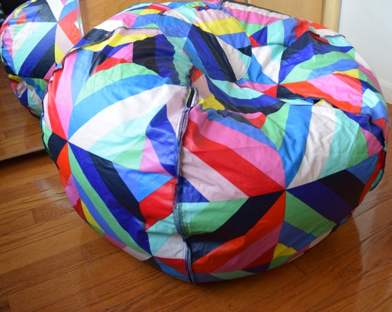 Sensational Large Marimekko Bean Bag Chair Cover Made Of Pvc Coated Cotton Approx 120 300Cm Circumference Pouf Floor Cushion Frankydiablos Diy Chair Ideas Frankydiabloscom