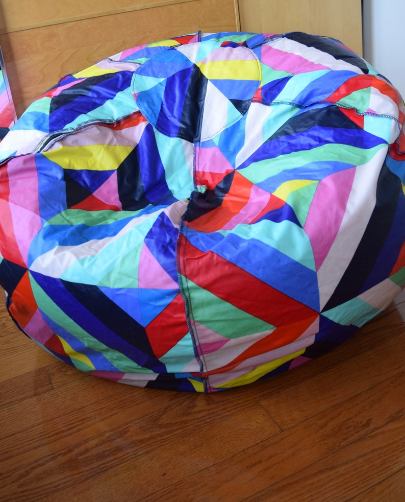 Fine Large Marimekko Bean Bag Chair Cover Made Of Pvc Coated Cotton Approx 120 300Cm Circumference Pouf Floor Cushion Frankydiablos Diy Chair Ideas Frankydiabloscom
