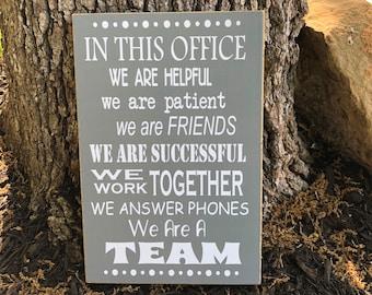 Office Decor ~ 0ffice Rules ~ Boss' Day Gift ~ Gift For Boss ~ Bosses Day ~ Gift Ideas For Boss In This Office Wooden Sign ~Office Wall Art
