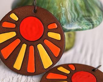 Sonora Sun Leather Earrings