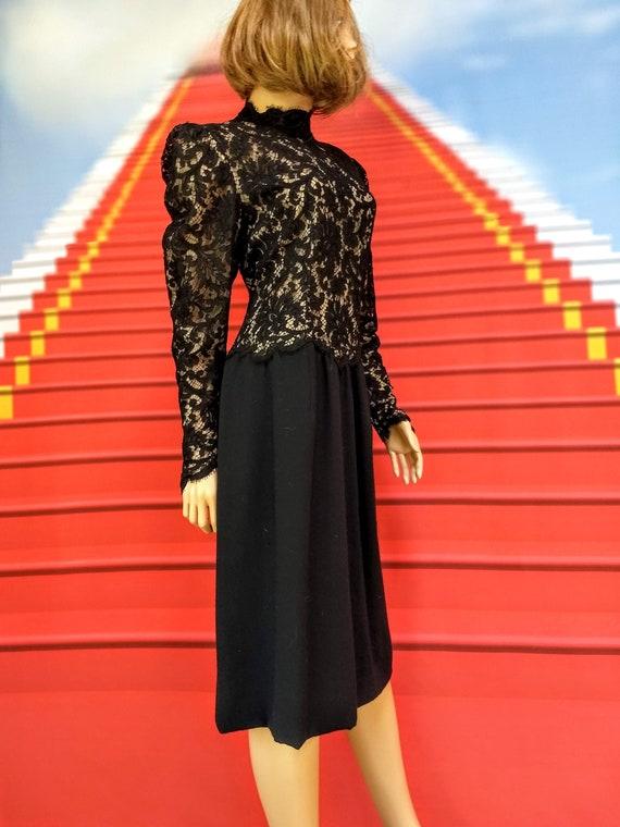 vintage 1980s Pauline Trigere black dress - image 4