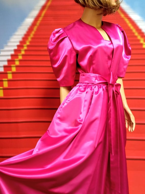 1980s vintage William Pearson couture pink fuchsia