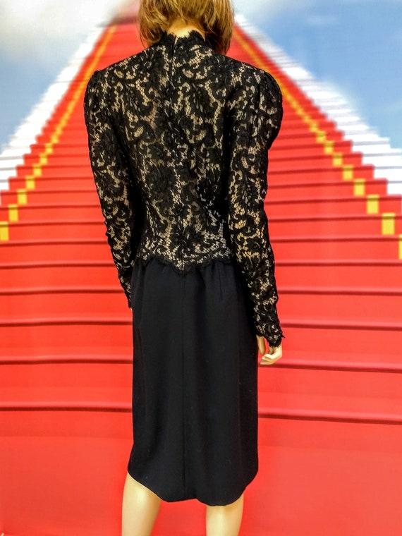 vintage 1980s Pauline Trigere black dress - image 6