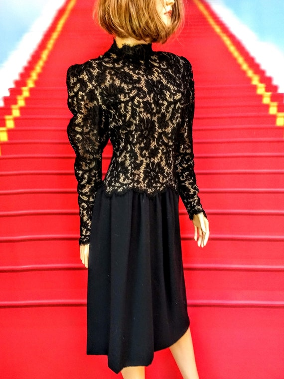 vintage 1980s Pauline Trigere black dress - image 2