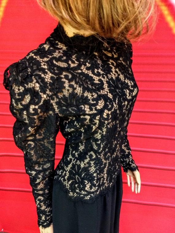 vintage 1980s Pauline Trigere black dress - image 1