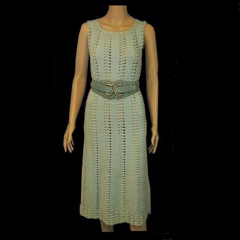 ab731677 Vintage Hand Crocheted Open Weave Sexy Boho Dress Big Chunky | Etsy