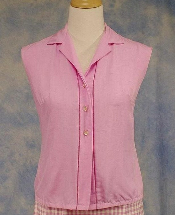 Vintage 50s 60s Tabak of California Pink Rayon Sle