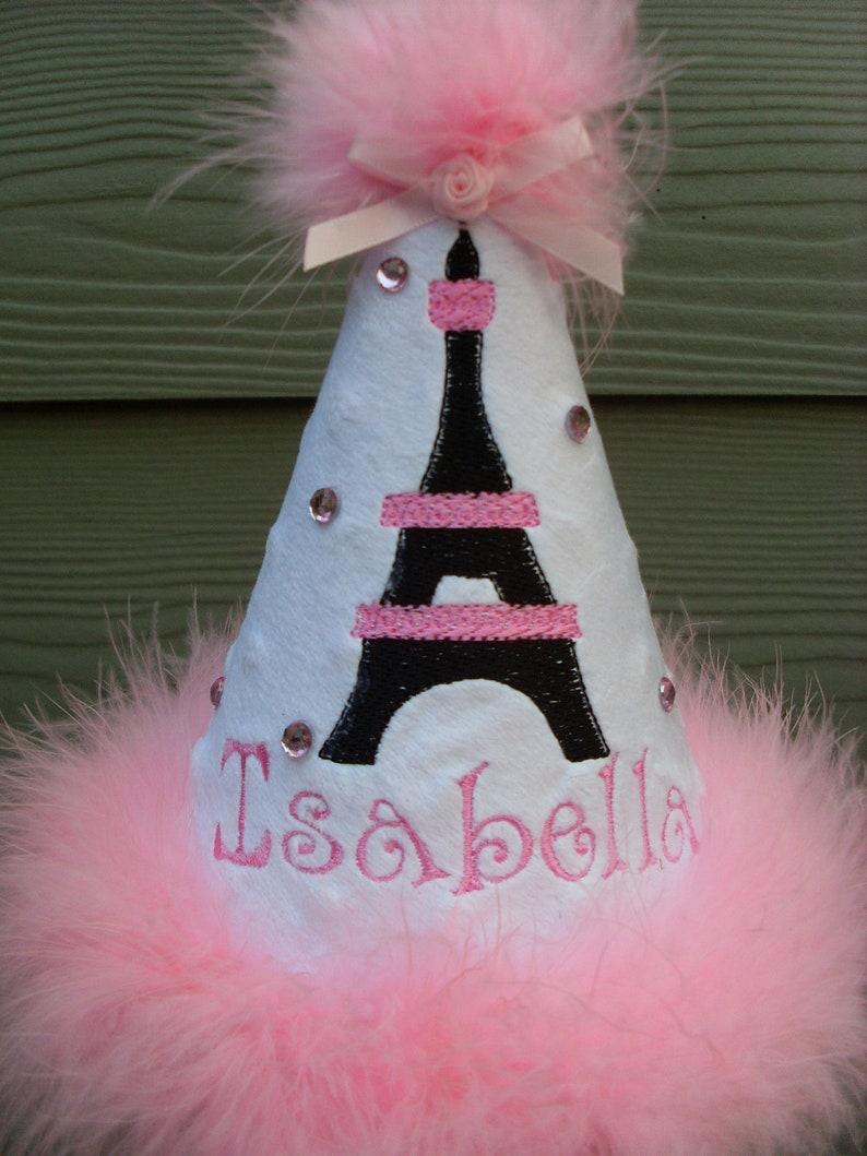 Sombreros de fiesta personalizados...NEGRO y Rosa PARIS tema  b4ec4482988