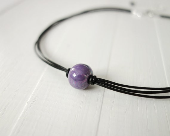 Purple cord choker