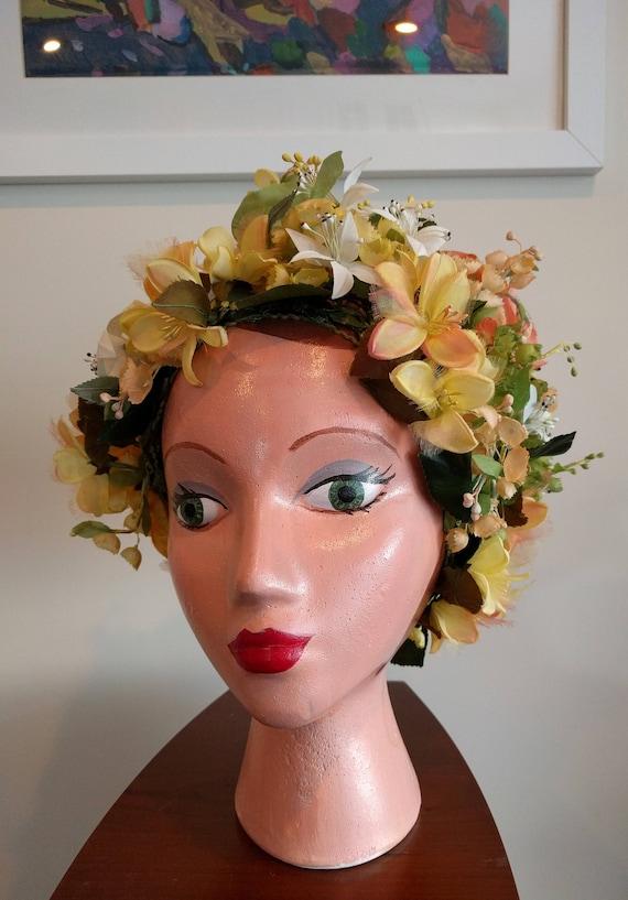 Vintage Christian Dior floral hat - stunning - image 4
