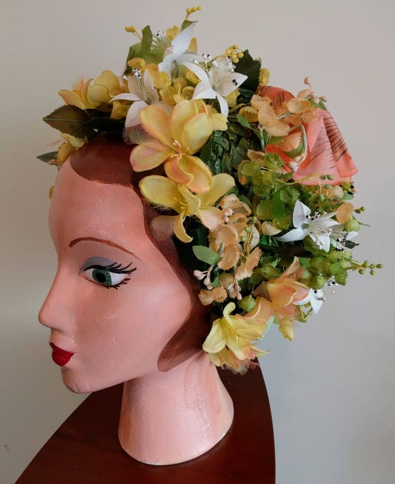 Vintage Christian Dior floral hat - stunning - image 7
