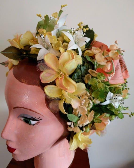 Vintage Christian Dior floral hat - stunning - image 8