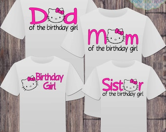 Matching Hello Kitty Family Birthday Girl Tshirts