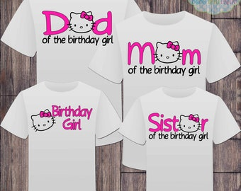 49b43f60b Matching Hello Kitty Family Birthday Girl Tshirts - Matching Birthday  Shirts - Hello Kitty