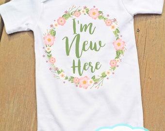 I'm New Here Bodysuit - Newborn - New baby - Birth