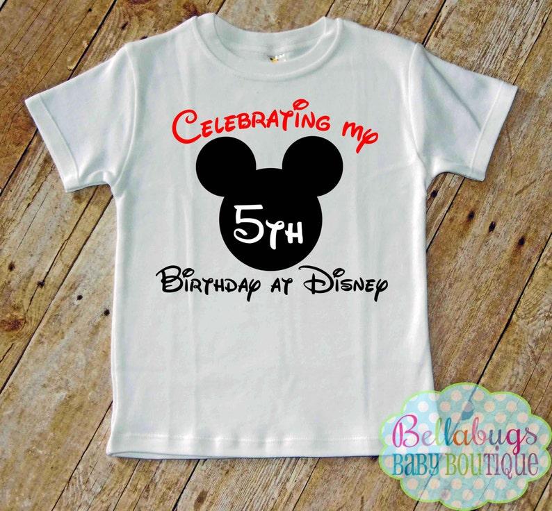 158c358b0 Celebrating my Birthday at Disney Bodysuit or Tshirt Mickey | Etsy