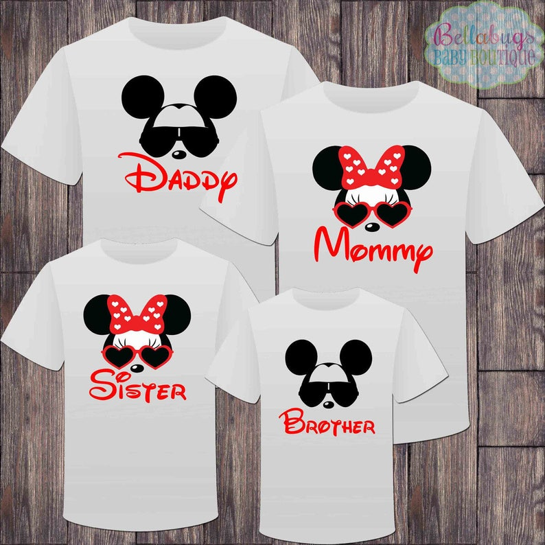 2ad3212622c1 Matching Disney Family Vacation Tshirts Mickey Minnie Mouse