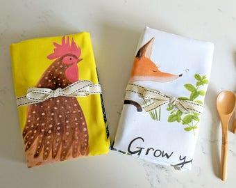 Grow your own - Tea towel