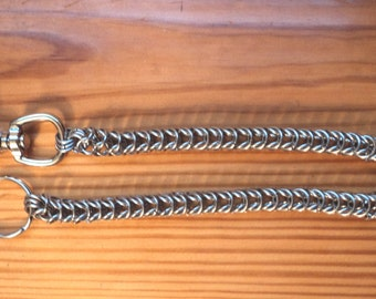 """20"""" Stainless steel chain mail box weave wallet chain5/16""""ID rings"""