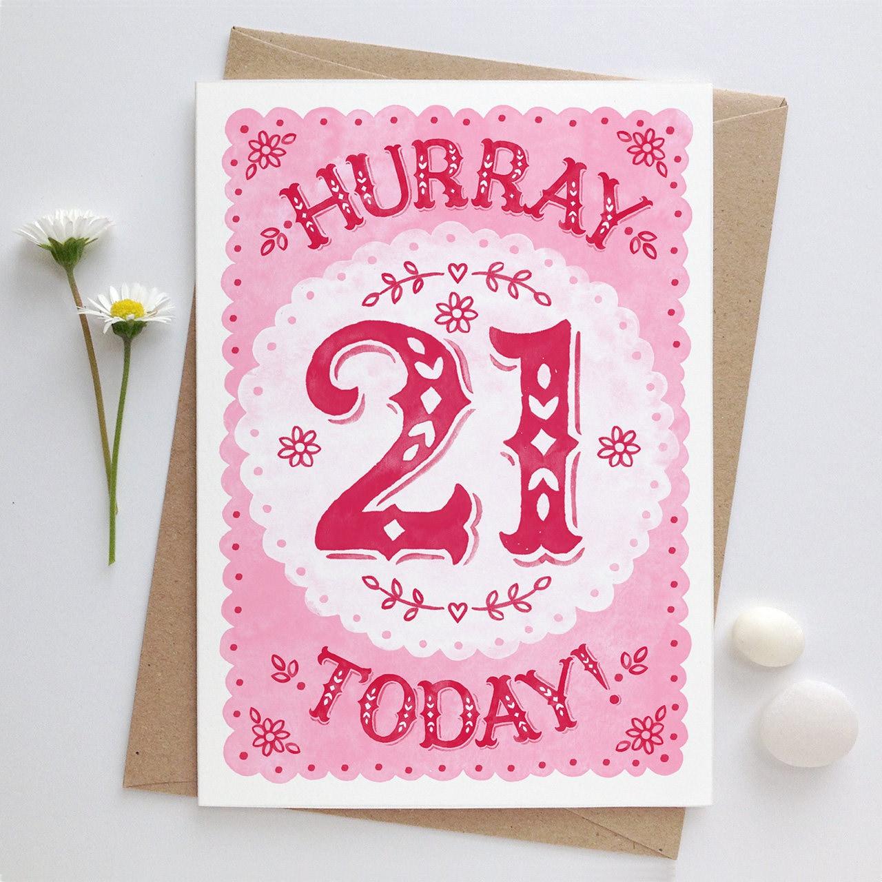 21st Birthday Card Twenty First Birthday Coming Of Age