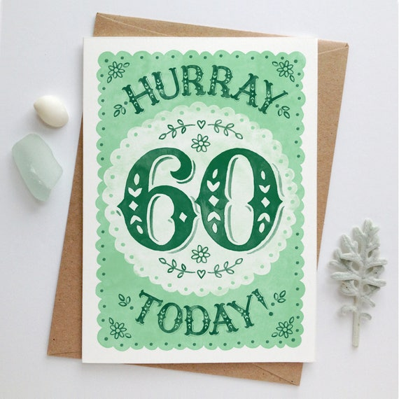 60th Birthday Card Sixtieth