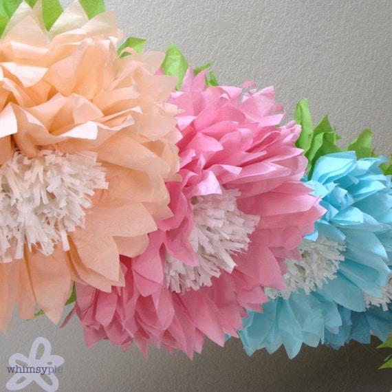 Oopsy daisy 5 giant hanging paper flowers cake smash baby etsy image 0 mightylinksfo