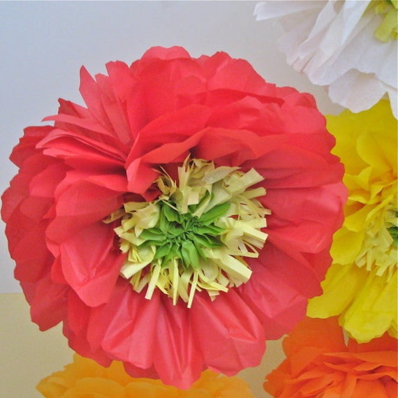 Poppy love 5 giant paper flowers party decorations baby etsy image 0 mightylinksfo