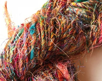Variegated Sari Silk Yarn