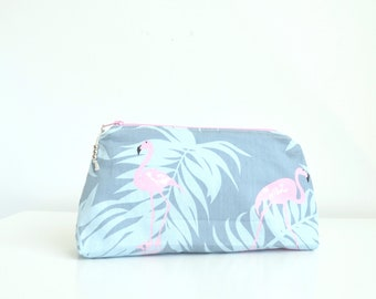 Flamingo Make up bag Makeup bag Bridesmaid gift Gifts for her Gifts for women Best friend gift Gift for Mom Teacher gifts Eco friendly