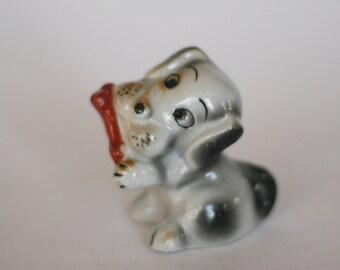 vintage ceramic dog made in japan