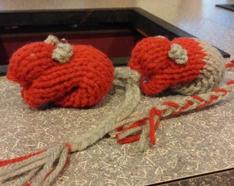 Knitted Gerbil - Ohio State Scarlet Red Grey