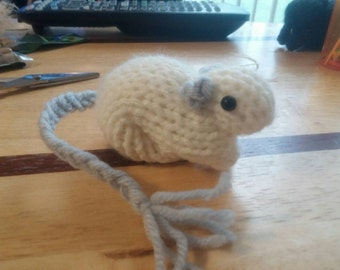 Knitted Silver Point Gerbil  #30