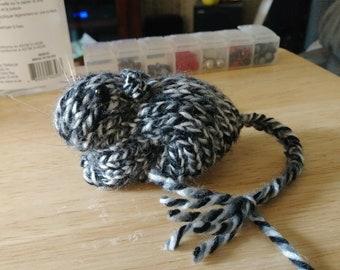 Knitted Gerbil Mottled Black