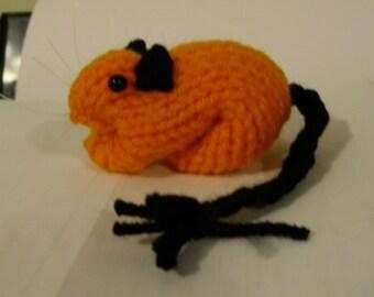 Knitted Gerbil - Halloween