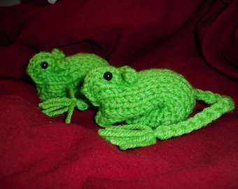 Knitted Gerbil - Green Holiday St Patricks Day/Easter/Spring
