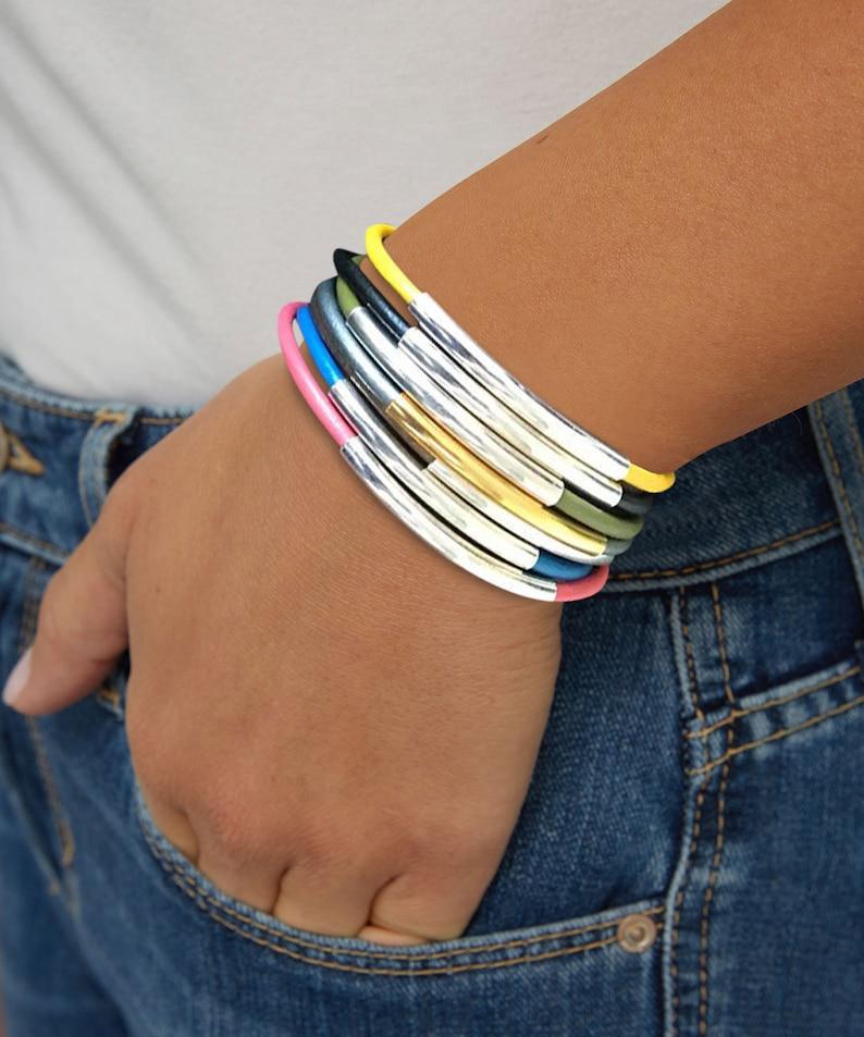 Leather Faux Suede Wrap Bracelets For Women Earthy Wrap image 0