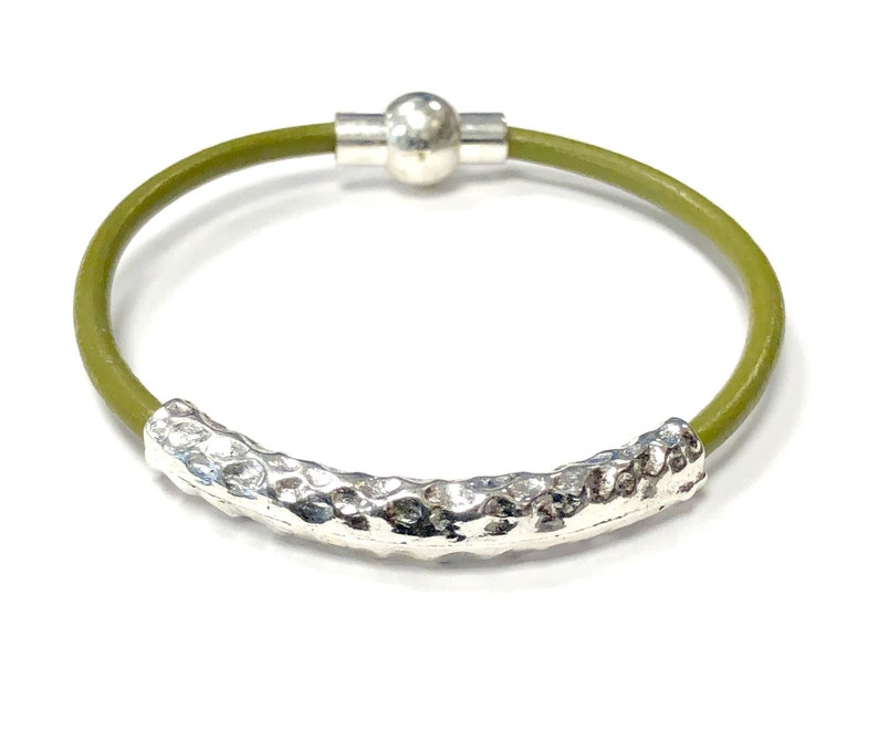 Hammered Leather Wrap Bracelets For Women Earthy Wrap image 0