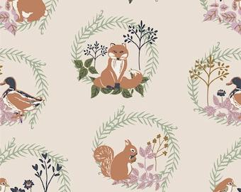 Lilliput ~ Forest Friends 56702 ~ Sharon Holland  ~ Art Gallery Fabrics ~ 100% Cotton ~ By the Yard ~ Fat Quarters ~ 1/2 Yard Cuts