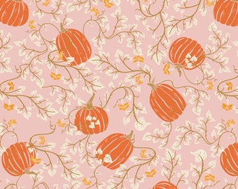 "End of Bolt 24"" x 45"" ~ Spooky 'n Sweet ~ Through the Pumpkin Patch SNS-13004 ~ AGF Studio ~ 100% Cotton ~ Halloween ~ Orange ~ Pink"