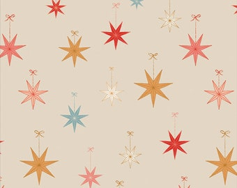 Cozy & Magical ~ Let it Glow 25132 ~ Maureen Cracknell ~ AGF ~ Cotton ~ By the Yard ~ Fat Quarters ~ 1/2 Yard Cuts ~ Stars ~ Tree Topper