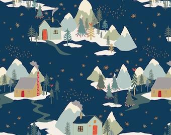 Cozy & Joyful ~ Winter Wonderland CJO-12593 ~ Maureen Cracknell ~ AGF ~ Cotton ~ By the Yard ~ Fat Quarters ~ 1/2 Yard Cuts ~ Village