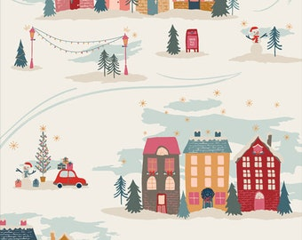 Cozy & Magical ~ Christmastide Town 25135 ~ Maureen Cracknell ~ AGF ~ Cotton ~ By the Yard ~ Fat Quarters ~ 1/2 Yard Cuts ~ Houses ~ Trees