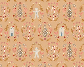 Cozy & Magical ~ Ginger Joy Sweet 25124 ~ Maureen Cracknell ~ AGF ~ Cotton ~ By the Yard ~ Fat Quarters ~ 1/2 Yard Cuts ~ Gingerbread Man
