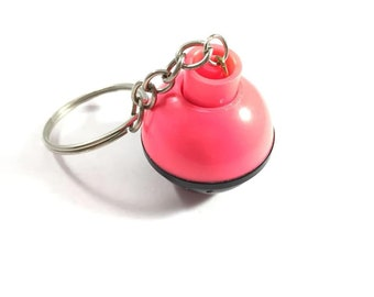 Black and Pink Fishing Bobber Keychain